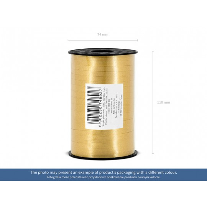 Wstążka plastikowa, fuksja, 5mm/225m