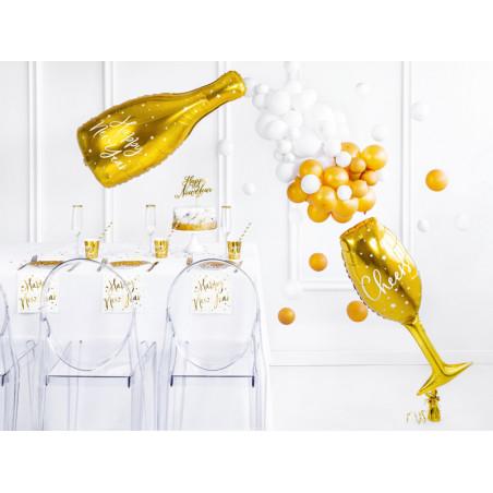 Wstążka plastikowa, złoty, 5mm/10m