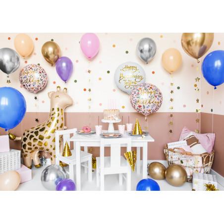 Balony Marmur 30cm, różowy (1 op. / 6 szt.)