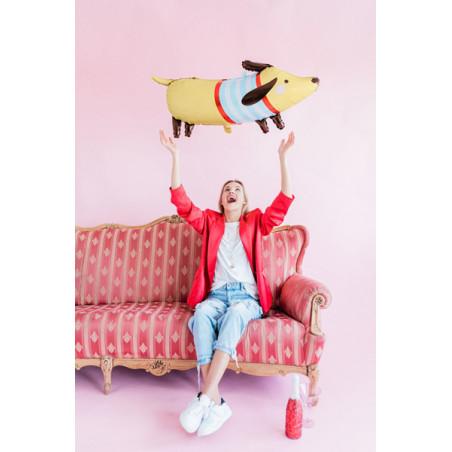 Baner Aloha, fuksja, 19x47cm