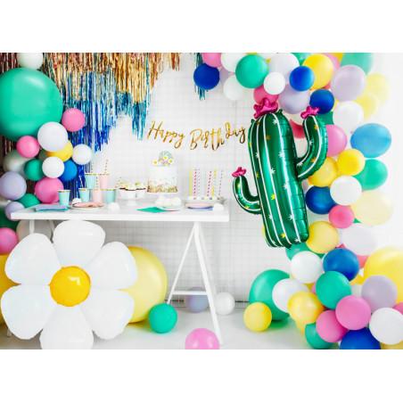 Baner Kosmos -  Space Party, srebrny, 13x96cm