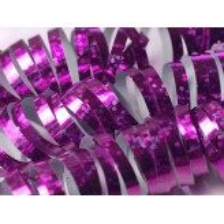 Serpentyny holograficzne, różowy, 3,8m
