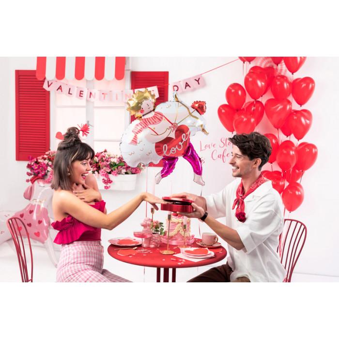 Serpentyny holograficzne, czerwony, 3,8m