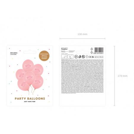 Granat z sercami i płatkami róż, 50cm