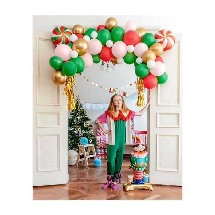 Wizytówki na stół - Serce, różowe złoto, 10x5cm (1 op. / 10 szt.)
