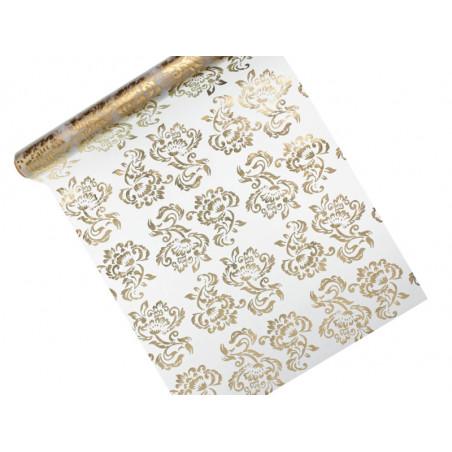 Tuba z gwiazdkami, srebrny, 40cm