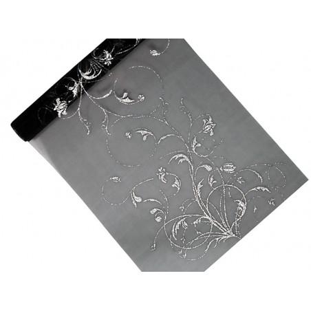 Tuba z gwiazdkami, srebrny, 60cm