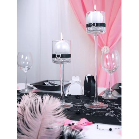 Tuba z gwiazdkami, srebrny, 80cm