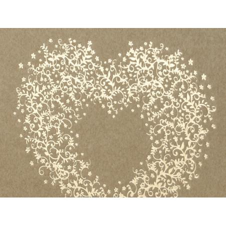 Wizytówka na stół Serduszko, 8 x 6,5cm, mix